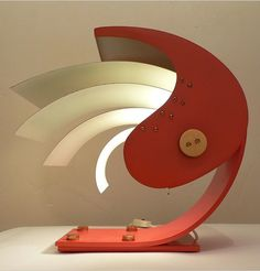 Gio Ponti; Enameled Metal and Brass 'Proteo' Table Lamp, c1960