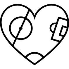 Spielfeldherz - Ein Herz als Fußballspielfeld für alle Liebhaber des runten Leders.