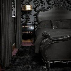 Gothic Bedroom Design Ideas 2019 13 Mysterious Gothic Bedroom Interior Design Id. Gothic Bedroom D Black Bedroom Furniture, Bedroom Decor, Bedroom Ideas, Furniture Sets, Gothic Furniture, Furniture Dolly, French Furniture, Wall Decor, Bedroom Designs For Couples