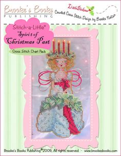 Stitch-a Little Spirit of Christmas Past Chart Pack   $11.00 - Includes Shipping  Includes: Witchelt Imports' Antique Brown and Metallic Silver perforated paper, Mill Hill seed beads, tapestry & beading needles and chart with instructions.