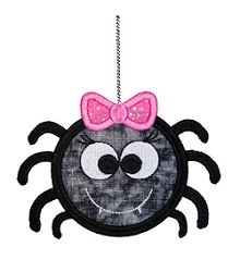 Cute Girly Spider Applique - 3 Sizes! | Halloween | Machine Embroidery Designs | SWAKembroidery.com