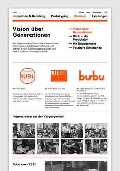 Brand identity and website for Swiss binding specialists Bubu by graphic design studio Bob Design