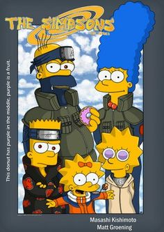 -The Simpsons in Naruto style clothes , Bart look cool in the akatsuki robe and sharing eyes - Cartoon Wallpaper, The Simpsons, Boruto, Simpsons Characters, Fictional Characters, Naruto Art, Naruto Uzumaki, Disney Cartoons, Cartoon Art
