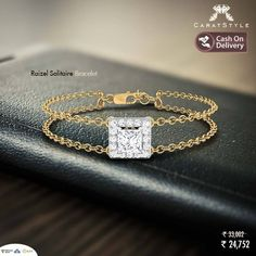 #solitaire #bracelet inspired by the beauty within you...! #diamondbracelet #solitairebracelet #gold #fashion #gifting #goldbracelet #jewelry