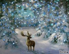 Diamantmalerei – Weihnachtselch Diamond Painting Type: Full Diamond Painting with Full Drill Diamond Type: Square Diamond What is a Diamond Painting? Christmas Moose, Christmas Scenes, Blue Christmas, Christmas Pictures, Beautiful Christmas, Winter Christmas, Christmas Lights, Christmas Time, Christmas Decorations