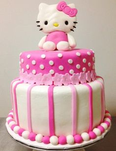 i wonder if i could make this cake? hello kitty!