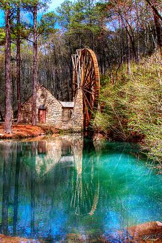 Old Grist Mill by Winecoff, via Flickr