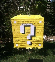 Minecraft Lucky Block Piñata by EventiveMoments on Etsy