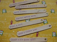 """""""I'm Done"""" activities... I like that it's on Popsicle sticks."""