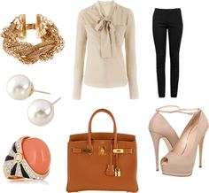 """""""neutral with coral"""" by dreamer-dx on Polyvore"""