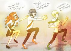 Haha I really enjoyed to draw them like that ^^ Hugo like protective brother xD I imagined that he just saw Scorpius and Rose kissing Well, let's imagin. Tom Felton Harry Potter, Harry Potter Tumblr, Harry Potter Hermione, Harry Potter Fan Art, Harry Potter Quotes Dumbledore, James Sirius Potter, Albus Severus Potter, Rose And Scorpius, Scorpius Malfoy