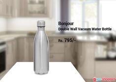 #bonjour Bonjour Stainless Steel Double Wall Vacuum Water Bottle.#bonjour order now from www.yooshopper.com,http://bit.ly/2ipHlfp