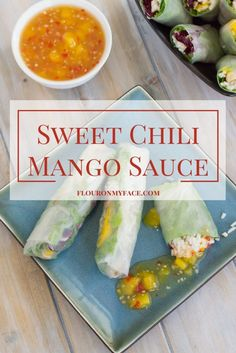 Sweet Chili Mango Sauce Chunky Homemade Sweet Chili Mango Sauce is a perfect sweet and spicy dipping sauce for chicken, fish and shrimp. Make a batch and enjoy it all week long. Chili Sauce Recipe, Sauce Recipes, Cooking Recipes, Recipe For Mango Sauce, Chili Recipes, Cooking Tips, Chutneys, Chimichurri, Spring Roll Dipping Sauce