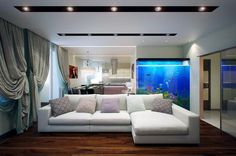 aquarium k che wohnzimmer trennwand holzverkleidung schrank ideen rund ums haus pinterest. Black Bedroom Furniture Sets. Home Design Ideas
