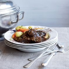 This classic Belgian beef stew is known for its sweet-sour combination of caramelized onions and beer. Any dark Belgian-style ale would be a good choi...