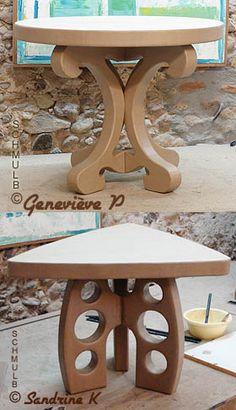 Table design bistro en carton
