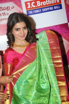 Samantha Ruth Prabhu in Saree At JC Brothers Shopping Mall Launch (19)