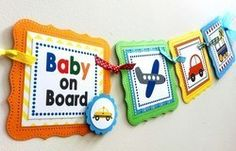 Baby Boy Onboard Transportation Baby Shower Party Banner Decoration - http://www.babydecorations.net/baby-boy-onboard-transportation-baby-shower-party-banner-decoration/