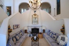 Casa Joia - Central Atrium with Fire and Seating Area #luxury #villa