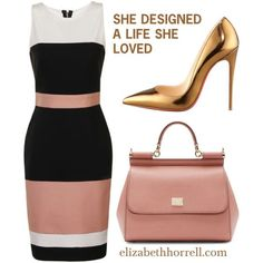 A fashion look from August 2015 featuring Paper Dolls dresses, Christian Louboutin pumps and Dolce&Gabbana shoulder bags. Browse and shop related looks. Classy Outfits, Chic Outfits, Dress Outfits, Fashion Dresses, Business Outfits, Business Fashion, Work Fashion, Fashion Looks, Modelos Fashion