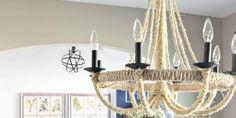 DIY Rope Chandelier Lighting Update