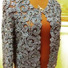 Crochet Coat, Crochet Cardigan, Crochet Clothes, Crochet Lace, Irish Crochet Patterns, Lace Patterns, Crochet World, Lace Outfit, Freeform Crochet