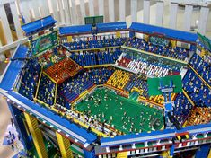 This is a Lego soccer field!! That is so awesome. It even has little Lego people. When I first looked at it I thought it was an actual soccer field but I wasn't really sure so I checked and I'm glad I did because that is awesome