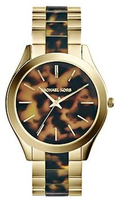 love this tortoise shell and gold Michael Kors watch http://rstyle.me/~2NvOf