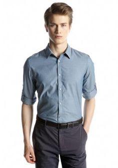 Calvin Klein  Yarn Dyed Grid Dobby Woven Shirt