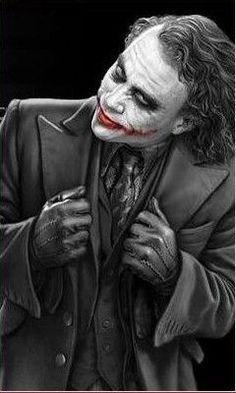 "Heath Ledger as the Joker.a fantastic villain. ""Why so serious?"" Greatest movie portrayal of a Marvel or DC villain ever? Der Joker, Heath Ledger Joker, Joker Art, Heros Film, Kings & Queens, Jokers Wild, Midtown Comics, Rock Poster, Joker Pics"
