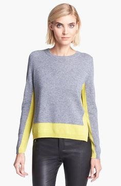 Loma 'Fliss' Colorblock Cashmere Sweater available at #Nordstrom