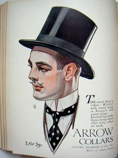 J.C. Leyendecker, illustration art for Arrow Collar ad.