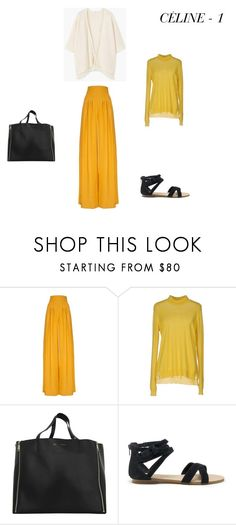 CÉLINE - 1 by natali-ja-shamraeva on Polyvore featuring мода, P.A.R.O.S.H., MANGO, Hebe Studio, Sole Society and CÉLINE