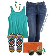 """#plus #size #outfit """"Plus Size - Summer Casual"""" by alexawebb on Polyvore"""