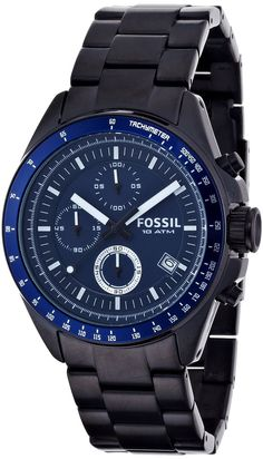 Fossil Men's CH2692 Decker Stainless Steel Blue Dial Watch < $114.00 > Fossil Watch Men