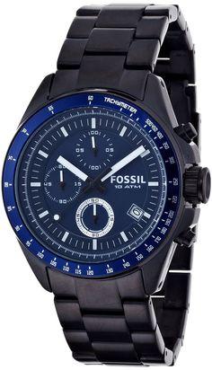 Fossil Men's CH2692 Decker Stainless Steel Blue Dial Watch < $114.00 > Fossil Watch Men