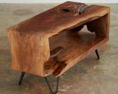 60 DIY Table Project for Beautiful Furniture in Your House Live Edge Furniture, Unique Furniture, Wooden Furniture, Furniture Projects, Wood Projects, Furniture Design, Woodworking Projects, Teds Woodworking, Furniture Stores