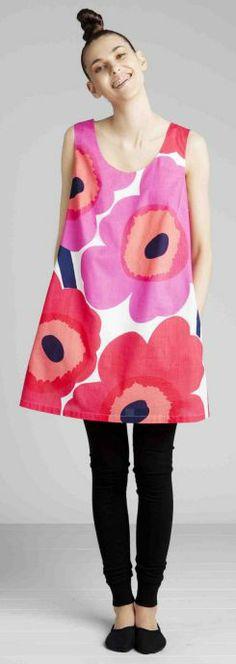 Marimekko Uuna dress, from Unikko fabric. Marimekko Finland