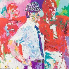 Bear Bryant by Leroy Neiman Leroy Neiman, Baseball Art, Sports Art, Alabama Football, College Football, Various Artists, Artsy, Bear, Roll Tide