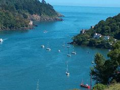 """Dartmouth, UK ... this pic shows Dartmouth Castle on the right - another castle on the left - guarding the River Dart's opening to the English Channel. We stayed in a Fisherman's """"cottage"""" circa 1700's very close to the perspective of this photograph. Magical."""