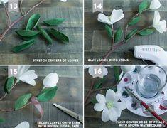 Dogwood flores de papel crepom.  Templates para impressão (7) (700x535, 273Kb)