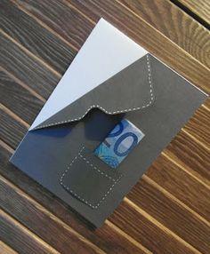 Anzug-Revers mit Envelope Punchboard