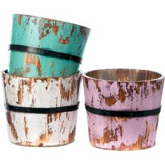 3 Piece Deanna Planter Set » These are wonderful! 23.95 usd for 3. What a fun outdoor color scheme!