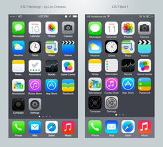Iconos iOS 7 por Leo Drapeau