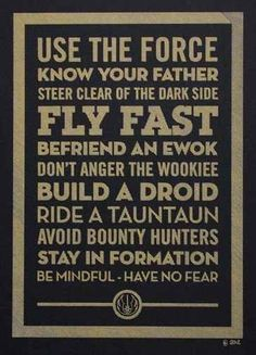 Dont anger the wookiee - Star Wars theme poster
