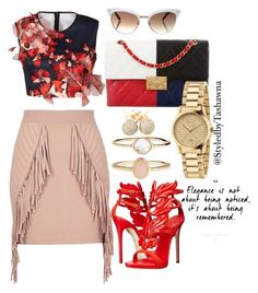 """Elegant Beauty"" by styledbytashawna on Polyvore featuring River Island, Clover Canyon, Giuseppe Zanotti, Chanel, Gucci, Accessorize and Loushelou"