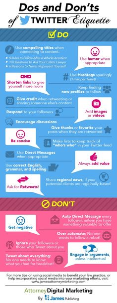 SOCIAL MEDIA -         Dos and Don'ts of #Twitter etiquette - #infographic #socialmedia.