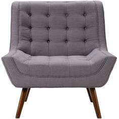 Foxhill Trading Company Tufted Mid-Century Chair ($280) ❤ liked on Polyvore featuring home, furniture and chairs