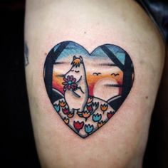 I would like this one in black and white New Tattoos, Body Art Tattoos, Cool Tattoos, Moomin Tattoo, Beautiful Tattoos, Watercolor Tattoo, Piercings, Ink, Instagram