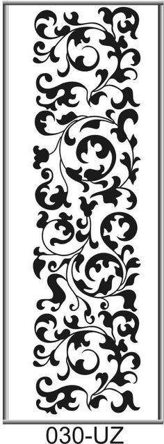 Изображение для пескоструйной обработки зеркал Stencils, Damask Stencil, Stencil Patterns, Stencil Art, Stencil Designs, Embroidery Files, Embroidery Patterns, Stencil Printing, Arabesque